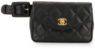 Chanel Pre Owned 1995 Diamond Quilted Belt Bag