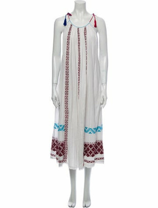 Ulla Johnson Striped Long Dress White