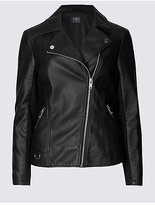M&S Collection PU Biker Jacket