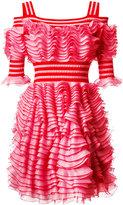 Alexander McQueen ruffled dress - women - Polyamide/Polyester/Viscose - S