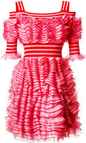 Alexander McQueen ruffled dress - women - Polyamide/Polyester/Viscose - XS