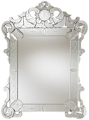 Baxton Studio Bevis Classic Silver Venetian Style Accent Wall Mirror