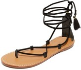 Soludos Women's Gladiator Lace Up Sandal Flat