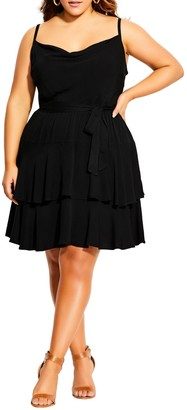 City Chic Mini Frill Dress
