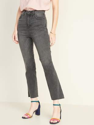 Old Navy High-Waisted Raw-Edged Flare Ankle Jeans For Women