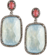 Bavna Multicolored Sapphire & Diamond Drop Earrings