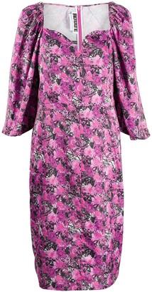 Rotate by Birger Christensen Floral-Print Puff-Sleeves Dress
