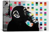 Apt2B Banksy THE THINKER MONKEY DOTS UP CLOSE