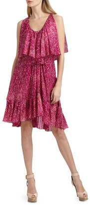 Cynthia Steffe Carey Printed Silk Chiffon Dress