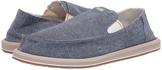 Sanuk Pick Pocket Chambray (Indigo Chambray) Men's Slip on Shoes