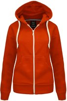 Forever Womens Plain Fleece Zip Hoodie Sweater