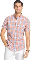 Izod Big & Tall Advantage Classic-Fit Plaid Stretch Button-Down Shirt