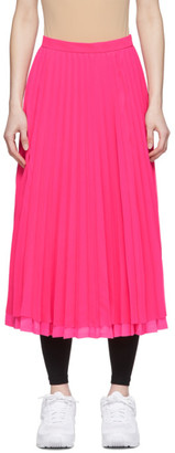 Junya Watanabe Pink Chiffon Pleated Skirt
