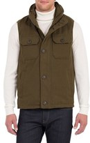 Rainforest Men's Water Resistant Down Vest With Stowaway Hood