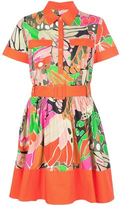 Paule Ka Colour-Block Shirt Dress