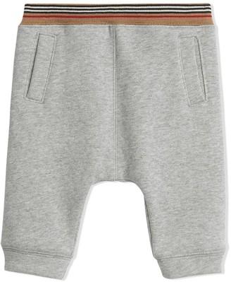 Burberry Heritage Stripe Cotton Jersey Sweatpants