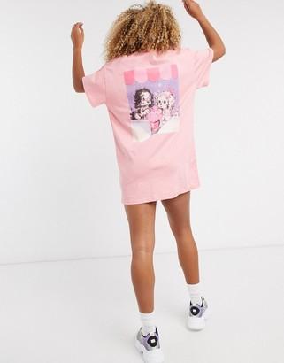 New Girl Order cute puppy back print t-shirt dress