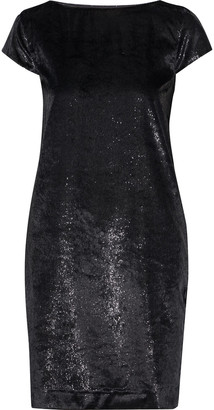 Love Moschino Metallic Velvet Mini Dress
