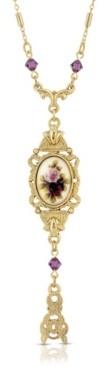 2028 Floral Drop Pendant Necklace