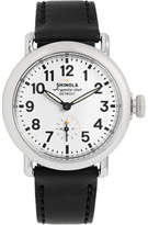 Shinola The Runwell 36mm Stainless Steel And Leather Watch - White