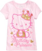 Hello Kitty Birthday Princess T-Shirt, Toddler Girls