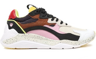 McQ Daku Color-block Leather, Suede And Mesh Sneakers