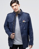Pretty Green Field Jacket In Navy