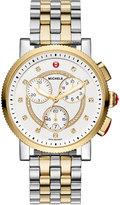 Michele Sport Sail 42mm Two-Tone Bracelet Watch