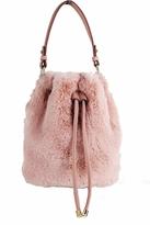 Street Level Fur Bucket Bag