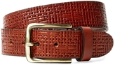 Berge Men's Woven Leather Belt