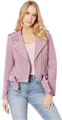 Blank NYC Suede Moto Jacket (El Dorado) Women's Coat