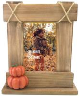 "Celebrate Fall Together Stacked Pumpkin 4"" x 6"" Wood Frame"