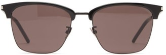 Saint Laurent Square Acetate Sunglasses - Womens - Black