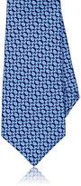 Kiton Men's Ring-Print Silk Necktie