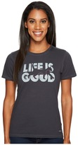Life is Good Silhouette Cat Crusher Tee Women's Clothing