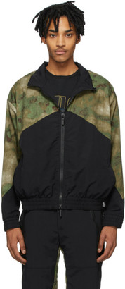 Rhude Black and Green Flight Jacket