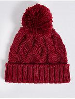 Marks and Spencer Kids' Pom-pom Cable Knit Hat