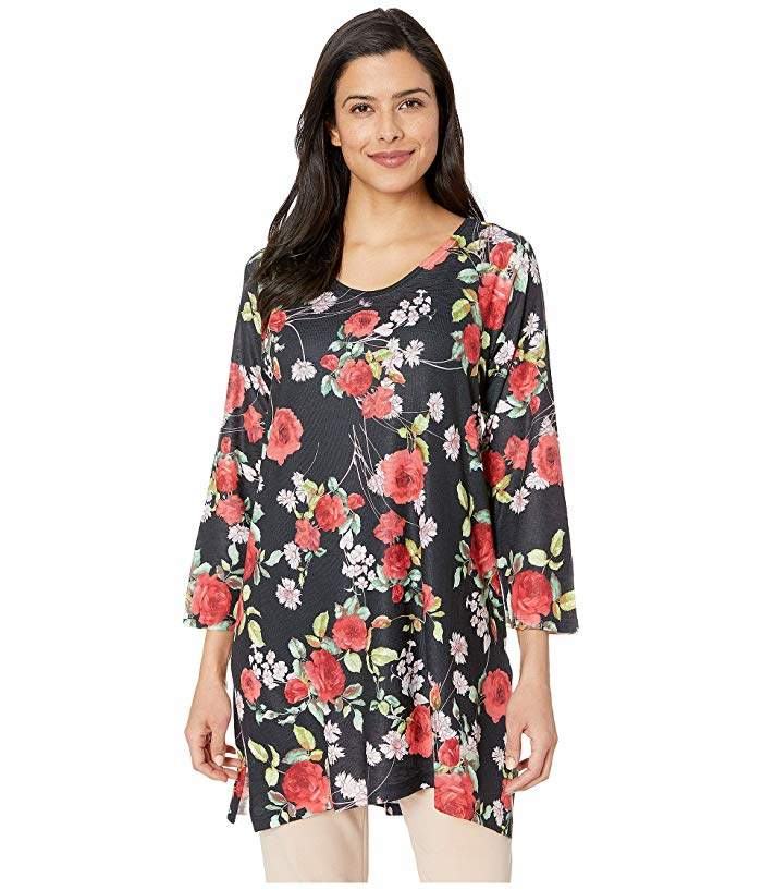 Nally & Millie Floral Print Tunic Top