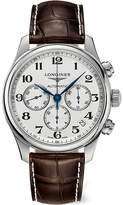 Longines L26934785 Master Stainless Steel And Leather Chronograph Watch