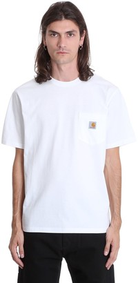 Carhartt S-s Pocket T-shirt In White Cotton