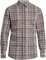 Ermenegildo Zegna Long-sleeved checked cotton shirt