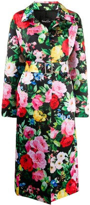 Richard Quinn Floral Print Trench Coat