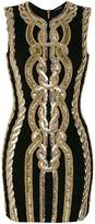 Balmain fitted embellished dress