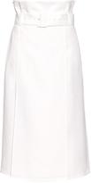 Tibi Belted crepe midi skirt