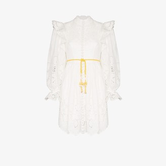 Zimmermann Carnaby high neck ruffled dress