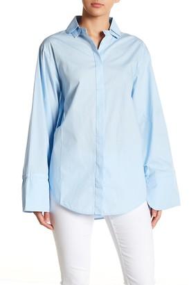 J.o.a. Long Bell Sleeve Button Down Shirt