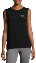 Spiritual Gangster Peace Love Yoga Lotus Tank Top, Black