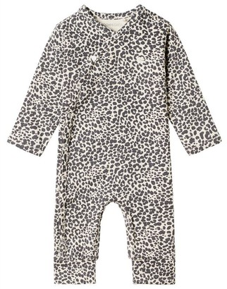 Noppies Unisex Long Sleeve Playsuit Oatmeal Baby 0 - 6 Months