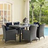 Modway Sojourn 7 Piece Dinning Set with Cushions Cushion