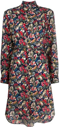 Junya Watanabe Floral Print Shirt Dress